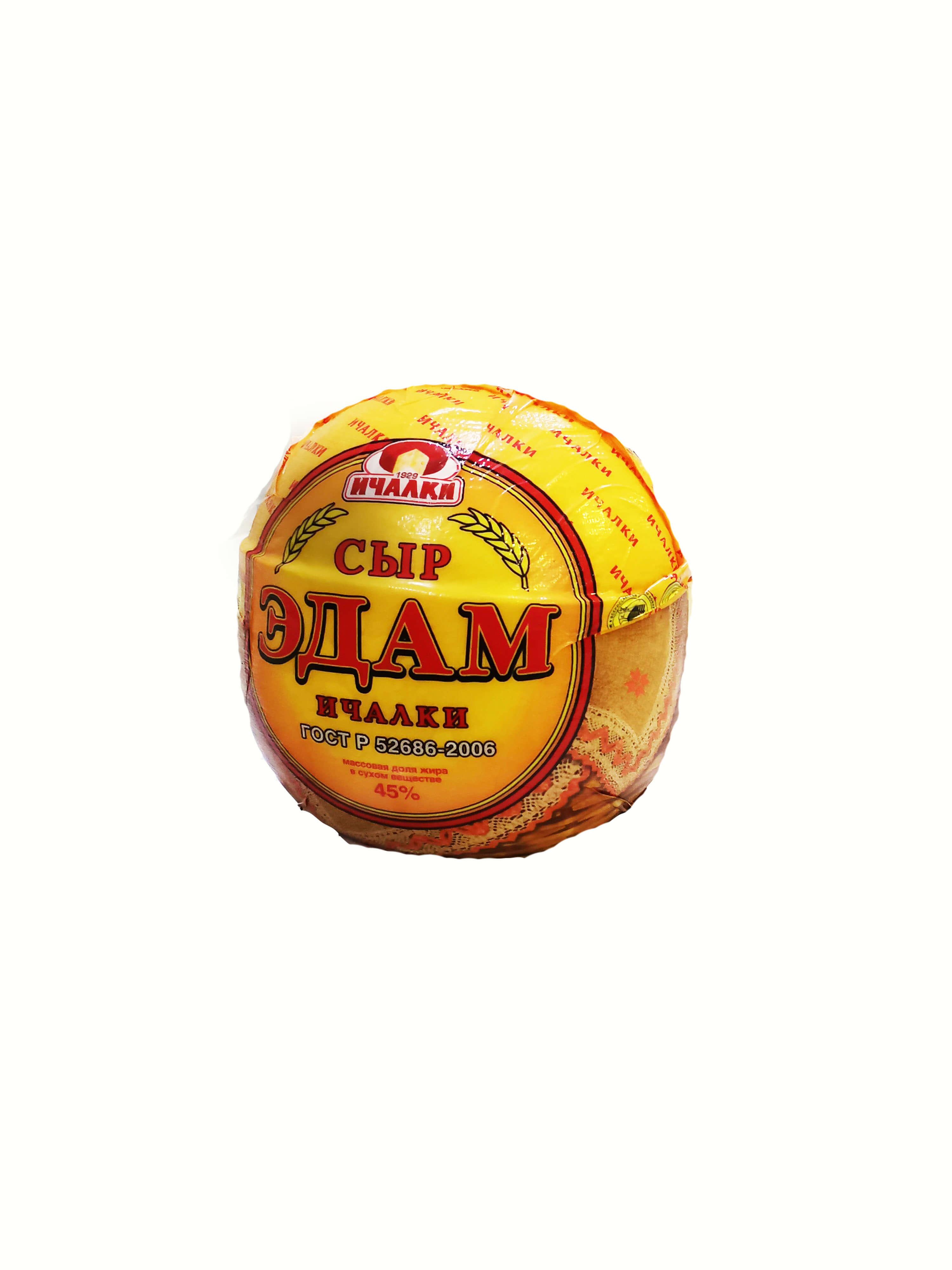 Эдам (Ичалки) шар 1,8 кг*6 ГОСТ